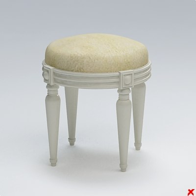 3d chair stool model - Stool030.ZIP... by Fworx