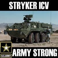 m1126 icv stryker armoured 3d model