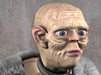 monster gollum 3d model