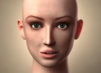 girl face 3d max