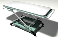 3d model of hospital bed