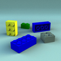 lightwave lego blocks