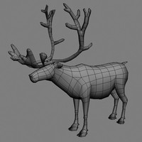 Reindeer Low Poly