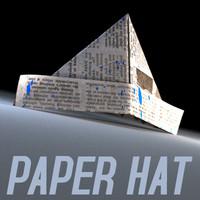 paper hat 3d model