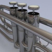 silver cornet 3d max