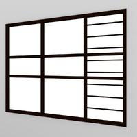window 3d obj