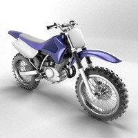 3d model motocross bike