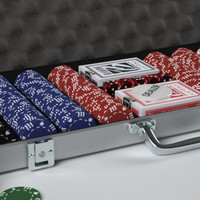 poker set 3d obj