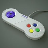 gravis pc gamepad 3d model