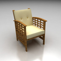 3ds max high-poly outdoor en chair