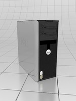 3d model desktop dell
