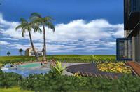 realtime concept villa 3d max