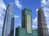 3 skyscrapers china sky 3d model