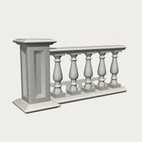 3d model balustrade column