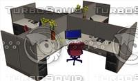 3d cubicle desk