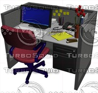 maya telemarketing cubicle desk