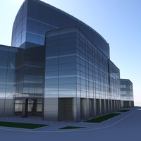 modern trade center 3d model