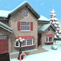 3d model of home winter