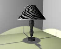lamp black white 3ds