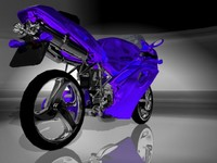 y bike engine 3d model