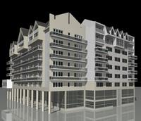 buildings a1 a2 3d model