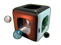 3d model cube ball