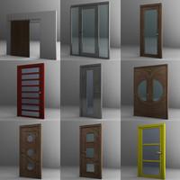3d door set model