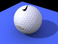 photorealistic golf ball