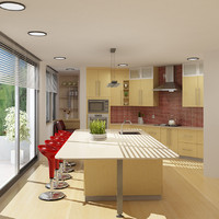 3d model kitchen realist published