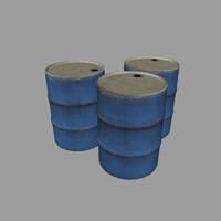 3dsmax oil barrel
