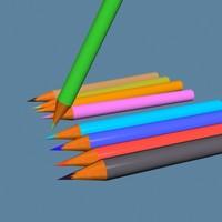 pencile colurs 3d model