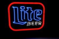 c4d lite beer neon sign