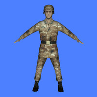 chinese type 07 soldier 3d model