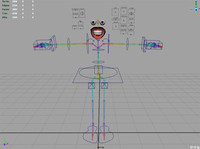 Complete Bipedal Animation FK/IK rig with teeth, eyes, and textures