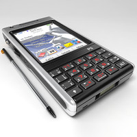 sony ericsson p1i mobile phone 3d model