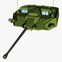 3d model warrior ctws turret