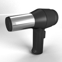 3d hair dryer model