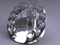 3d cocktail serving set holder model