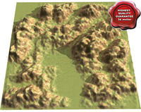 mountains modelled open 3d model