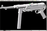 mp40 submachine gun 40 dwg
