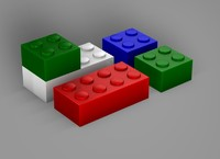 3dsmax lego blocks