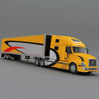 Volvo Truck with trailer 01