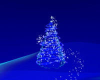 CHRISTMAS TREE STAR PARTICLES