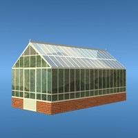 simple green house 3d model