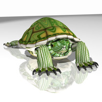 3d model of red eared slider
