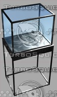 3d steel display case retail model