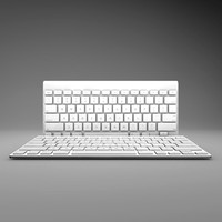 apple wireless keyboard keys 3d model