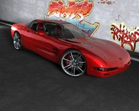 chevrolette corvette car c4d