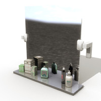 3d bathroom mirror model