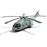 3d eh101 merlin helicopter model
